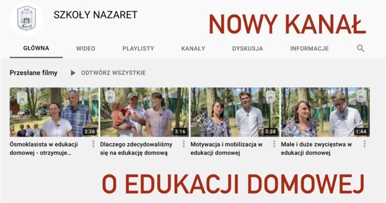 Nasz kanał na YouTube o edukacji domowej